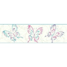 White/Pink/Purple Children Wallcovering by York