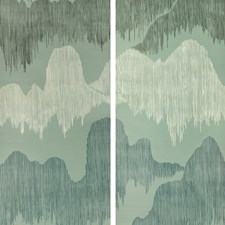 Teal Modern Wallcovering by Groundworks
