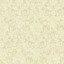 Ecru/Taupe/Off White Damask Wallcovering by York