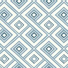 White/Dark Blue/Medium Blue Geometrics Wallcovering by York