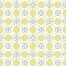 Grey/White/Yellow Geometrics Wallcovering by York
