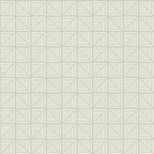 Grey/White Bohemian Wallcovering by York