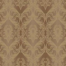 Brown/Gold Damask Wallcovering by York