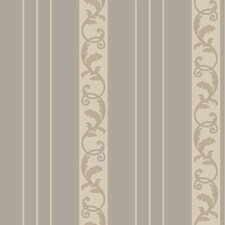 Silver Blue/Heavy Cream/Cocoa Stripes Wallcovering by York