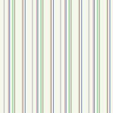 Ecru/Grey/Green Stripes Wallcovering by York