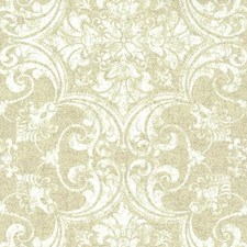 Beiges/White/Off Whites Damask Wallcovering by York