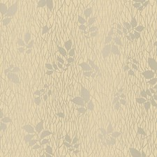 Deep Cream/Hint Of Linen/Silver Pearl Metallic Branches Wallcovering by York