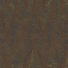 Copper/Deep Green/Golden Tan Chevron Wallcovering by York