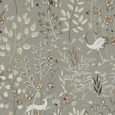 Light Grey/White/Medium Grey Asian Wallcovering by York