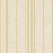 Cream/Gold Stripes Wallcovering by York