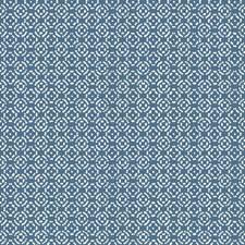 Medium Blue/White Geometrics Wallcovering by York