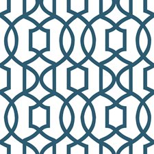 NU1648 Navy Grand Trellis Peel & Stick by Brewster
