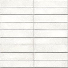 NU2238 White Mid-Century Brick Peel & Stick by Brewster
