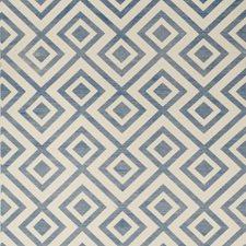 Blue/Ivory Diamond Wallcovering by Lee Jofa Wallpaper