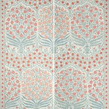 Red/Blue Botanical Wallcovering by Lee Jofa Wallpaper