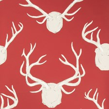 Red Animal Wallcovering by Lee Jofa Wallpaper