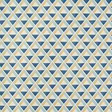 Sky/Blue Geometric Wallcovering by Lee Jofa Wallpaper
