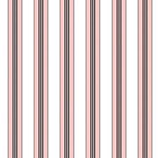 Rose Stripes Wallcovering by Brunschwig & Fils