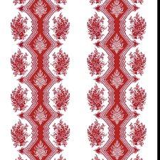 Red Botanical Wallcovering by Brunschwig & Fils