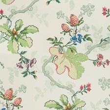 White Botanical Wallcovering by Brunschwig & Fils
