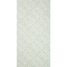 Aqua Lattice Wallcovering by Brunschwig & Fils