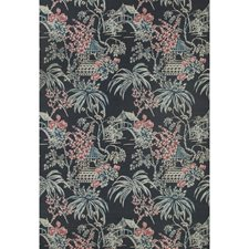 Midnight Asian Wallcovering by Brunschwig & Fils