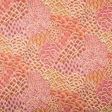 Pink Botanical Wallcovering by Brunschwig & Fils
