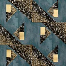 Navy Modern Wallcovering by Brunschwig & Fils