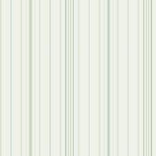 Cream/Aqua/Beige Stripes Wallcovering by York