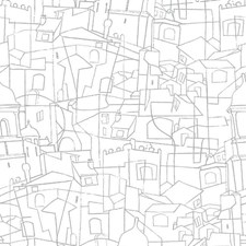 PSW1048RL Cubist Cityscape by York
