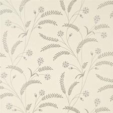 Silver Botanical Wallcovering by Baker Lifestyle Wallpaper