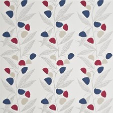 Cherry/Indigo/Buttermilk Wallcovering by Baker Lifestyle Wallpaper