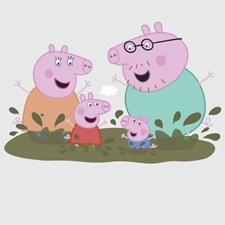 RMK3186GM Peppa Family Muddy Puddles GNT by York