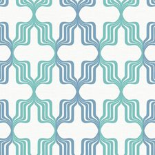 Aqua/Blue/White Novelty Wallcovering by York