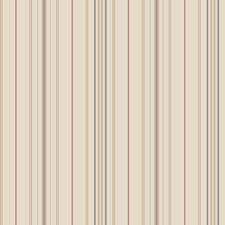Beige/Cocoa/Charcoal Grey Stripes Wallcovering by York