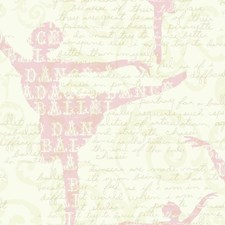 White/Pink/Pearl Children Wallcovering by York