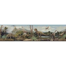 Soft Blue/Green/Taupe Animals Wallcovering by York