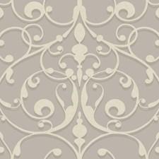 Light Grey/Medium Grey/Cream Traditional Wallcovering by York