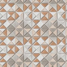 Greys/Russet/Cream Geometrics Wallcovering by York