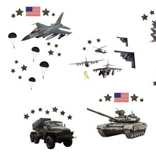 ST1289 Military Wall Stickers by Brewster