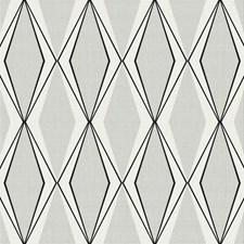 Off White/Silver/Black Geometrics Wallcovering by York