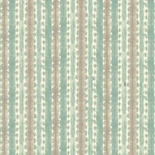 Aqua/Taupe/White Stripes Wallcovering by York
