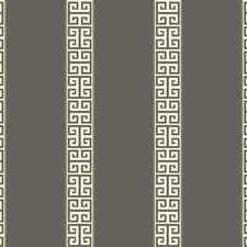 Dark Grey/White/Gold Stripes Wallcovering by York