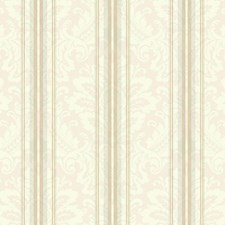 Off-white/Pale Blue/Taupe Damask Wallcovering by York