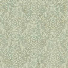 Blue/Green/Beige Damask Wallcovering by York