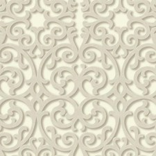 Cream/Beige/Grey Traditional Wallcovering by York