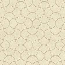 Cream/Beige/White Taupe Geometrics Wallcovering by York