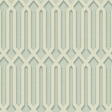 Aqua/Cream/Teal Geometrics Wallcovering by York