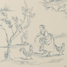 Wedgewood Animal Wallcovering by Clarke & Clarke