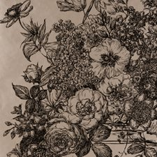 Black/Gold Floral Stylized Wallcovering by Clarke & Clarke